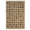 Orian Rugs Supershag 7-ft 10-in x 10-ft Rectangular Beige Block Area Rug