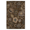 Orian Rugs Hudson 61-in x 90-in Rectangular Brown/Tan Floral Area Rug