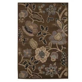 "Orian Rugs 9'8"" x 13' Chocolate Stokely Area Rug"