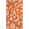 allen + roth Heritage 23-in x 39-in Rectangular Red/Pink Floral Accent Rug