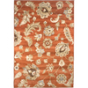 allen + roth Heritage 63-in x 90-in Rectangular Red/Pink Floral Area Rug