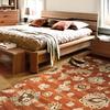 allen + roth Rowley Brick Rectangular Indoor Woven Area Rug (Common: 8 x 10; Actual: 94-in W x 120-in L)