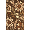 Orian Rugs Tranquility 23-in x 39-in Rectangular Brown/Tan Floral Accent Rug