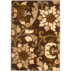 allen + roth Tranquility 46-in x 65-in Rectangular Brown/Tan Floral Area Rug