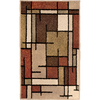 allen + roth Sonoma 23-in x 39-in Rectangular Brown/Tan Geometric Accent Rug