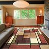 allen + roth Addington Brown Rectangular Indoor Woven Area Rug (Common: 5 x 8; Actual: 63-in W x 90-in L)