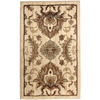 allen + roth Montage Luxe 23-in x 39-in Rectangular Cream/Beige/Almond Floral Accent Rug
