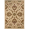 allen + roth Montage Luxe 94-in x 120-in Rectangular Cream/Beige/Almond Floral Area Rug