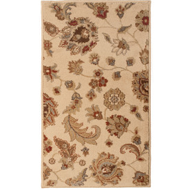 allen + roth Rowley Rectangular Cream Floral Woven Accent Rug (Common: 2-ft x 3-ft; Actual: 23-in x 39-in)
