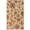 allen + roth Heritage 23-in x 39-in Rectangular Cream/Beige/Almond Floral Accent Rug