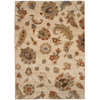 allen + roth Heritage 63-in x 90-in Rectangular Cream/Beige/Almond Floral Area Rug