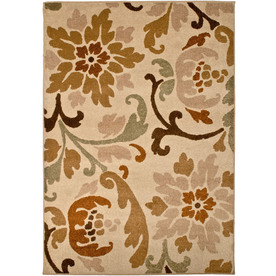 allen + roth Tranquility 120-in x 157-in Rectangular Cream/Beige/Almond Floral Area Rug