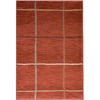 allen + roth Heritage 46-in x 65-in Rectangular Red/Pink Solid Area Rug