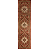 Orian Rugs Heritage 23-in W x 89-in L Red/Pink Runner