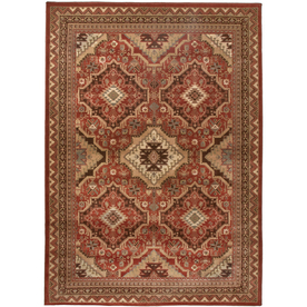 Orian Rugs Kendrick Rectangular Red Geometric Area Rug (Common: 4-ft x 6-ft; Actual: 3-ft 10-in x 5-ft 5-in)