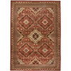 Orian Rugs Heritage 63-in x 90-in Rectangular Red/Pink Geometric Area Rug