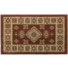 Orian Rugs Montage 20-in x 34-in Rectangular Red Transitional Accent Rug