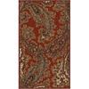 allen + roth Mansfield Red Rectangular Indoor Woven Throw Rug (Common: 2 x 3; Actual: 23-in W x 39-in L)