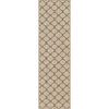allen + roth Collingtree Cream Rectangular Indoor Woven Runner (Common: 2 x 8; Actual: 23-in W x 89-in L)