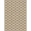 allen + roth Collingtree Cream Rectangular Indoor Woven Area Rug (Common: 4 x 6; Actual: 47-in W x 65-in L)
