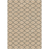 allen + roth Collingtree Cream Rectangular Indoor Woven Area Rug