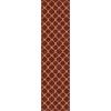 allen + roth Collingtree Red Rectangular Indoor Woven Runner (Common: 2 x 8; Actual: 23-in W x 89-in L)