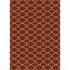 allen + roth Collingtree Red Rectangular Indoor Woven Area Rug (Common: 4 x 6; Actual: 47-in W x 65-in L)