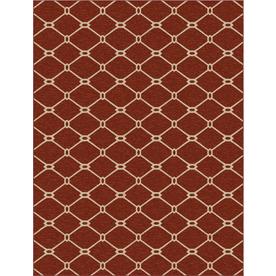 allen + roth Collingtree Red Rectangular Indoor Woven Area Rug (Common: 10 x 13; Actual: 120-in W x 157-in L)