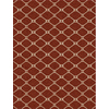 allen + roth Collingtree Red Rectangular Woven Area Rug