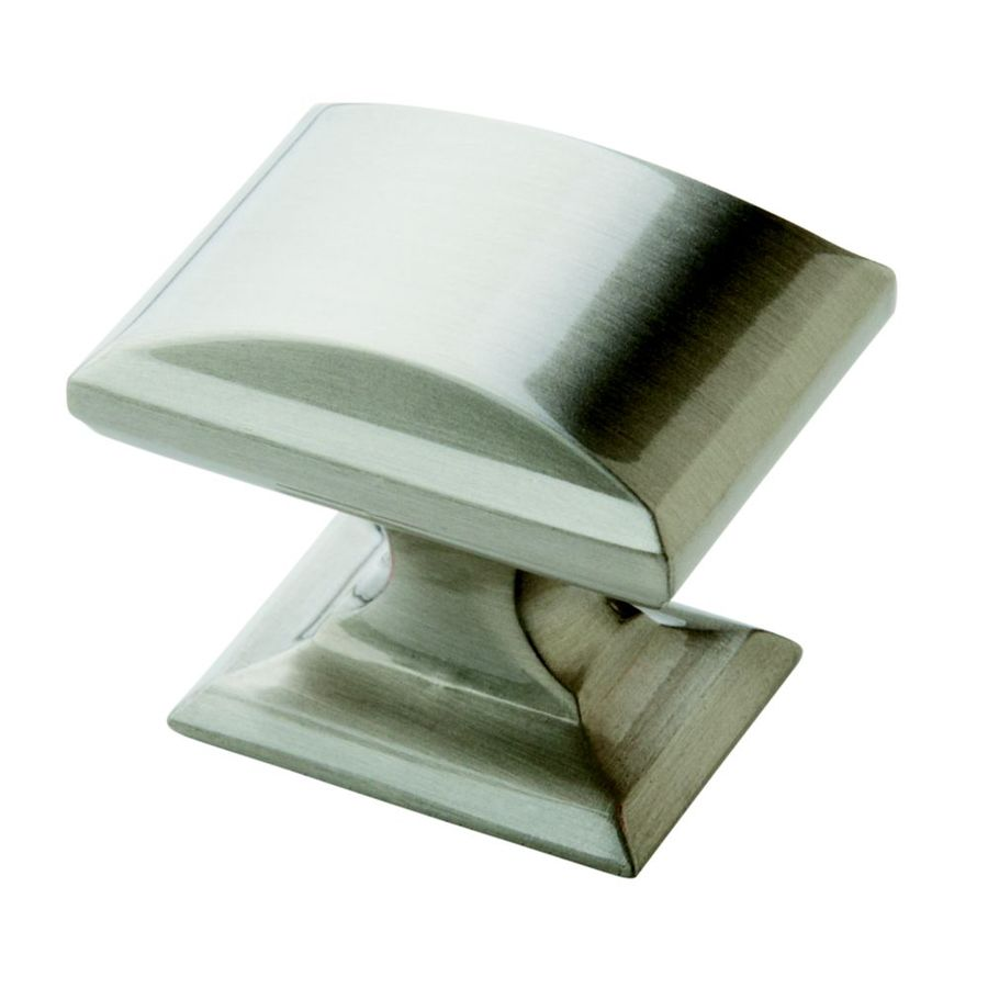 amerock candler satin nickel rectangular cabinet knob at