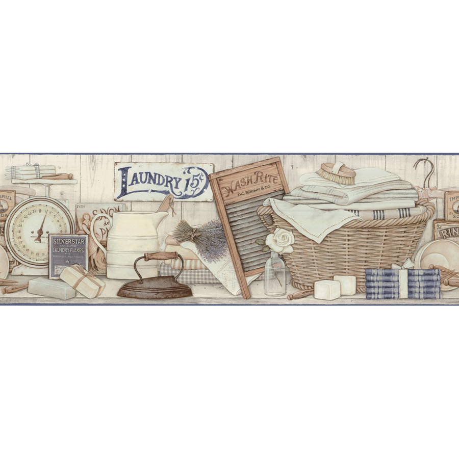 ... out zoom in allen roth 9 neutral laundry prepasted wallpaper border