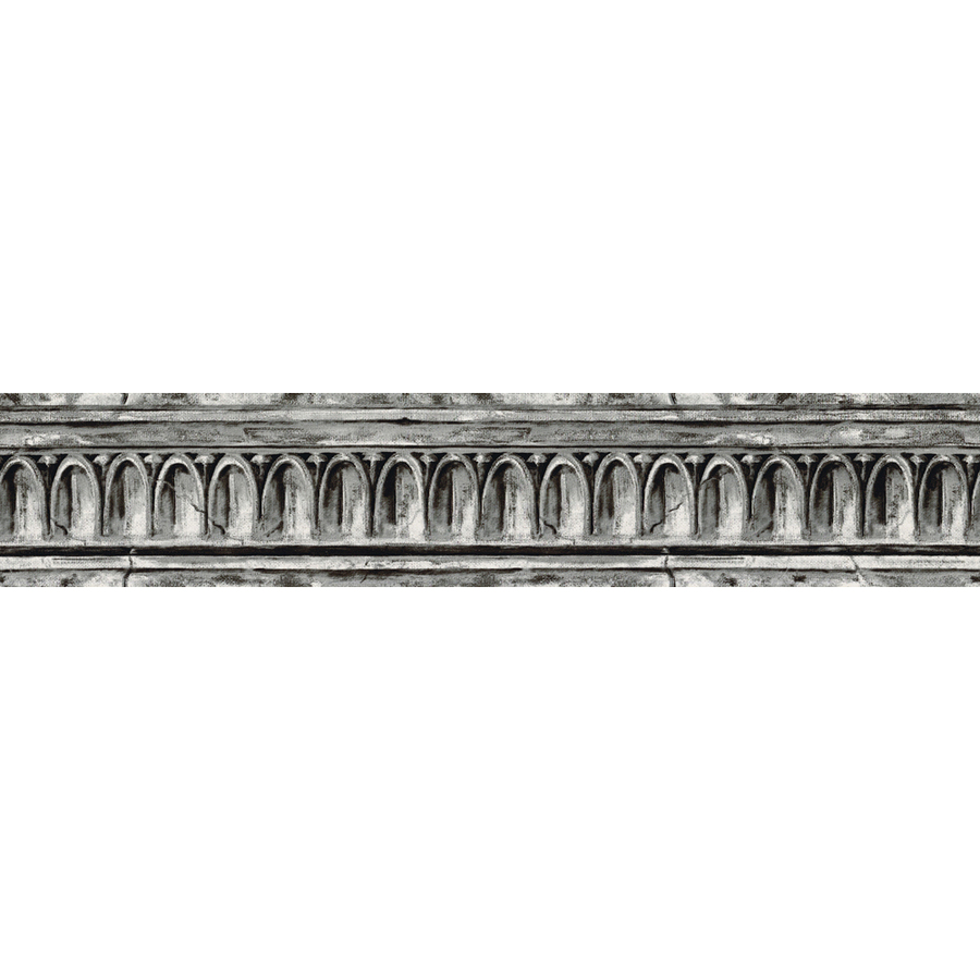 shop allen roth 4 1 8 black and grey crown molding
