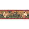 allen + roth 6.88-in Red Prepasted Wallpaper Border