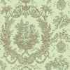allen + roth Green Strippable Paper Prepasted Classic Wallpaper