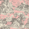 allen + roth Red Strippable Non-Woven Paper Prepasted Wallpaper