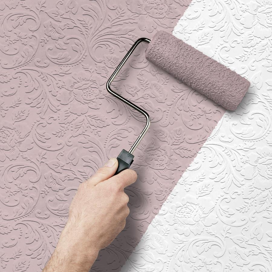 Allen roth peelable vinyl prepasted paintable wallpaper for Prepasted wallpaper