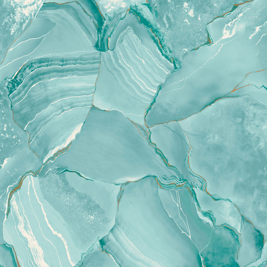 Shop allen roth turquoise peelable vinyl prepasted for Prepasted wallpaper