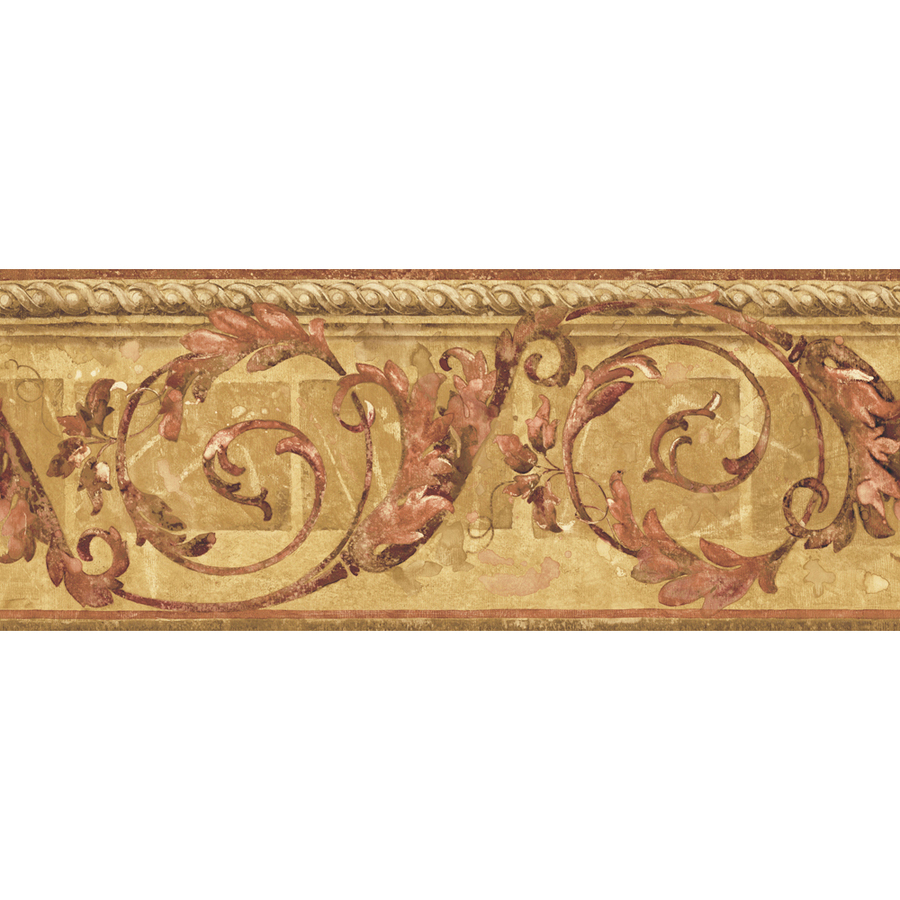 ... roth 8 1 4 mid tone traditional scroll prepasted wallpaper border