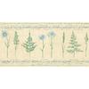 allen + roth 10.25-in Blue Prepasted Wallpaper Border