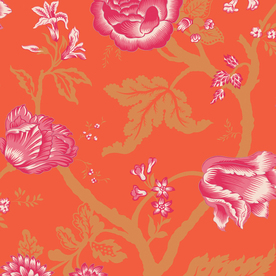 allen + roth Orange Strippable Paper Prepasted Wallpaper