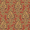 allen + roth Red Strippable Paper Prepasted Wallpaper