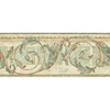 allen + roth 8.25-in Green Prepasted Wallpaper Border