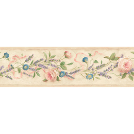 Shop allen + roth 6.13-in Red Prepasted Wallpaper Border ...