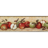 allen + roth&nbsp;6-7/8&#034; Apples And Birds Prepasted Wallpaper Border