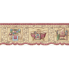 allen + roth 6.75-in Red Prepasted Wallpaper Border