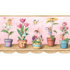 allen + roth 9.75-in Red Prepasted Wallpaper Border