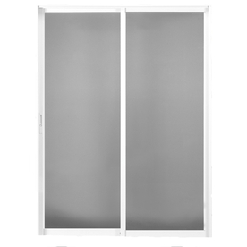 BetterBilt 420 Series 72-in Clear Glass Aluminum Sliding Patio Door with Screen