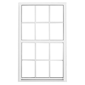 BetterBilt 3740 Series Aluminum Double Pane Single Strength New Construction Single Hung Window (Rough Opening: 36-in x 36-in; Actual: 35.25-in x 35.25-in)