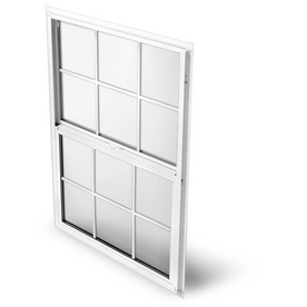 BetterBilt 865 Series Aluminum Double Pane Single Strength New Construction Single Hung Window (Rough Opening: 36-in x 36-in; Actual: 35.25-in x 35.5-in)