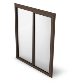 BetterBilt 875 Series Left-Operable Aluminum Double Pane Single Strength New Construction Sliding Window (Rough Opening: 36-in x 36-in; Actual: 35.25-in x 35.5-in)